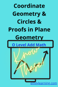 what is tested for coordinate geometry, circles and proofs in plane geometry