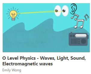 wave, light, sound and electromagnetic spectrum on- demand course for O level physics