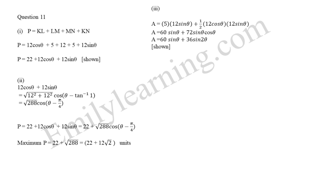 A Math 2019 Paper 2 Question 11 answers