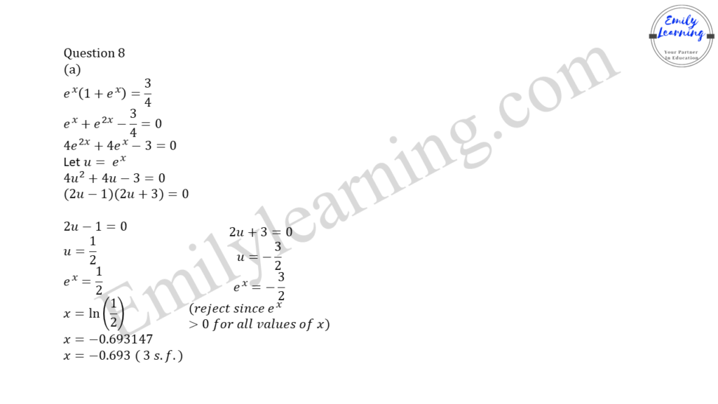 worked solutions of O Level A Math Paper 2 question 8 on  logarithm and indices