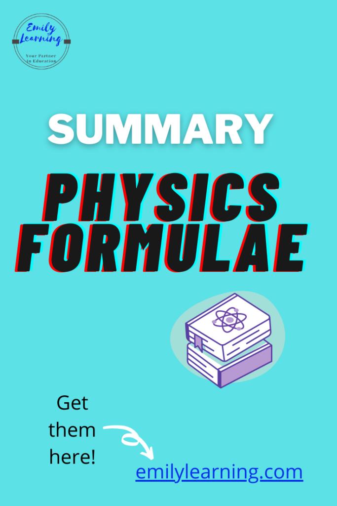 O Level Physics Formulae