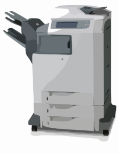 use of electrostatic charging for photocopiers